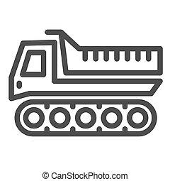 inverno, linha, graphics., símbolo, veículo, snowplow, ...