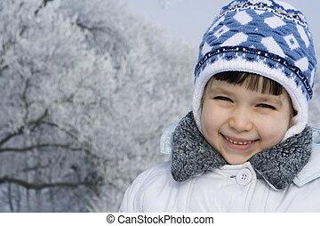 inverno, menina