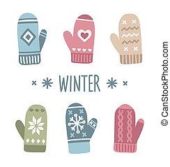 inverno, mittens