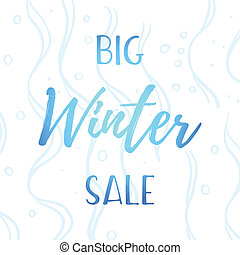inverno, mobile, bandiera, vendita