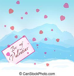 inverno, montagne, valentina