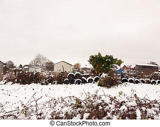 inverno, neve, cima, cena, pneus, repartição, dezembro, fim, pilha, lado