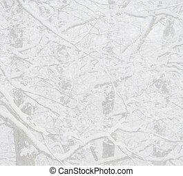 inverno, neve, fondo