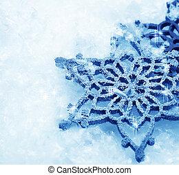 inverno, neve, fondo., fiocchi neve