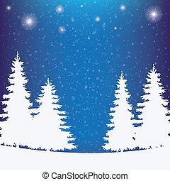 inverno, nevoso, fondo