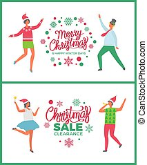 inverno, offerta, vacanze, vendita, buon natale, felice