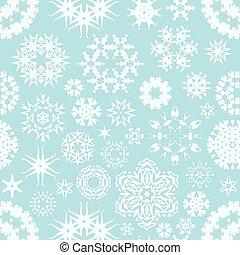 inverno, padrão, seamless, vetorial, fundo, snowflake