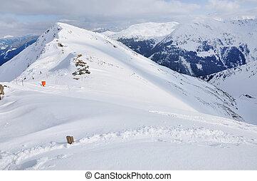 inverno, paesaggio montagna, in, alpi