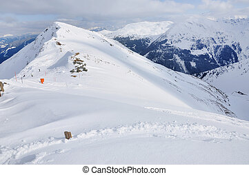 inverno, paisagem montanha, em, alpes