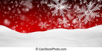 inverno, panorama, paesaggio astratto, fondo, cadere, rosso,...