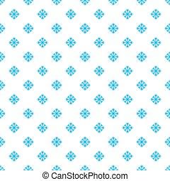 inverno, pattern., seamless, ilustração, experiência., vetorial, snowflake