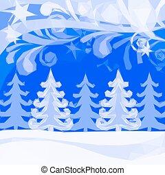 inverno, poly, fondo, basso, natale, foresta