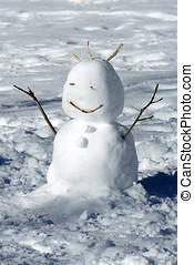inverno, pupazzo di neve