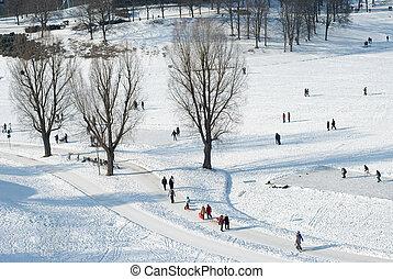 inverno, ricreazione