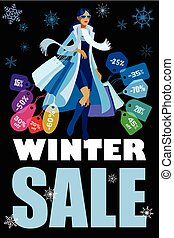 inverno, sazonal, venda