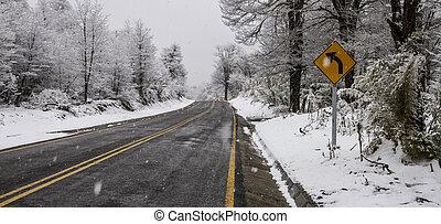 inverno, strada