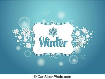 inverno, título, palavra
