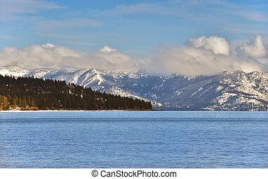 inverno, tahoe, tarde