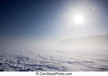 inverno, tempestade