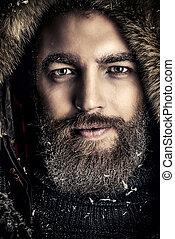 inverno, uomo