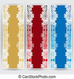 inverno, web, bandiere, 3, colori