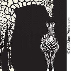 inverse, camouflage animal