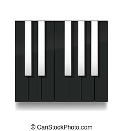inverse, inverter, teclas, pretas, oitava, piano