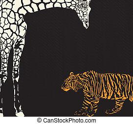 Inverse tiger and giraffe camouflag