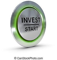 inversión, concept., invest., riesgo, dirección