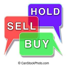 inversión, mercado, acción