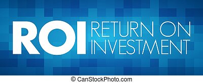 inversión, regreso, roi, siglas, -