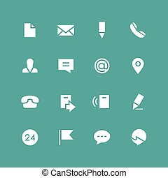 Invert contacts icon set - Invert contacts vector icon set. ...