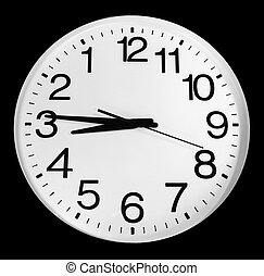 Inverted clock - Black & white inverted clock