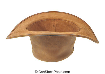 Inverted Cowboy Hat - Inverted brown cowboy hat as a...