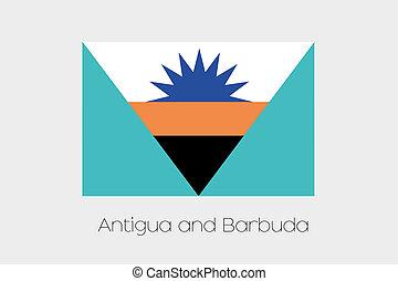 Inverted Flag of  Antigua and Barbuda