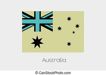 Inverted Flag of  Australia
