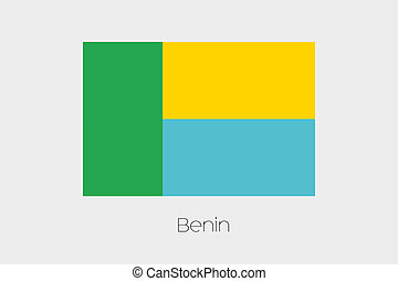 Inverted Flag of  Benin - An Inverted Flag of  Benin