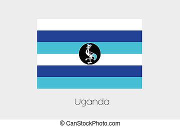 Inverted Flag of  Uganda
