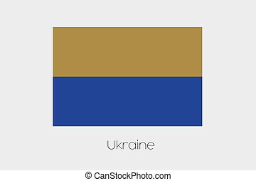 Inverted Flag of  Ukraine