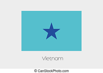 Inverted Flag of  Vietnam
