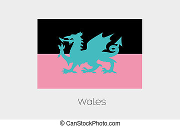 Inverted Flag of  Wales