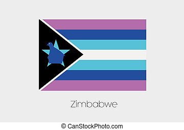Inverted Flag of  Zimbabwe