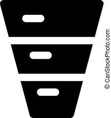 inverted funnel diagram