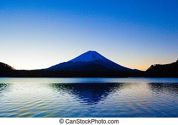 Inverted image of Mount Fuji