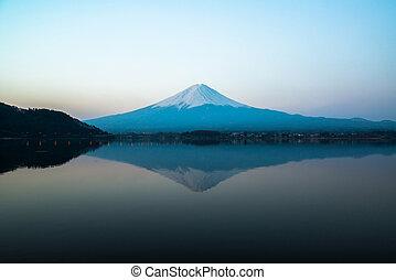 inverted image of Mt Fuji