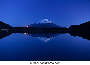 Inverted image of Mt.Fuji, panorama