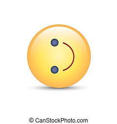 Inverted smiley face. Turned on the side emoticon emoji. Cartoon vector fun happy character