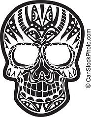 inverted sugar skull