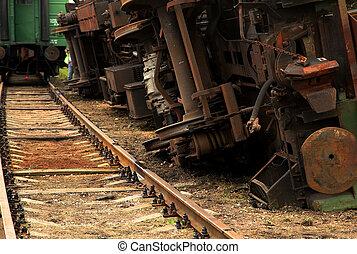 Inverted Rail goods train