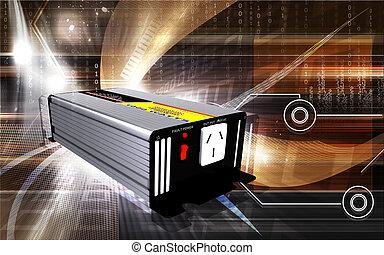 Inverter - Digital illustration of inverter in colour...
